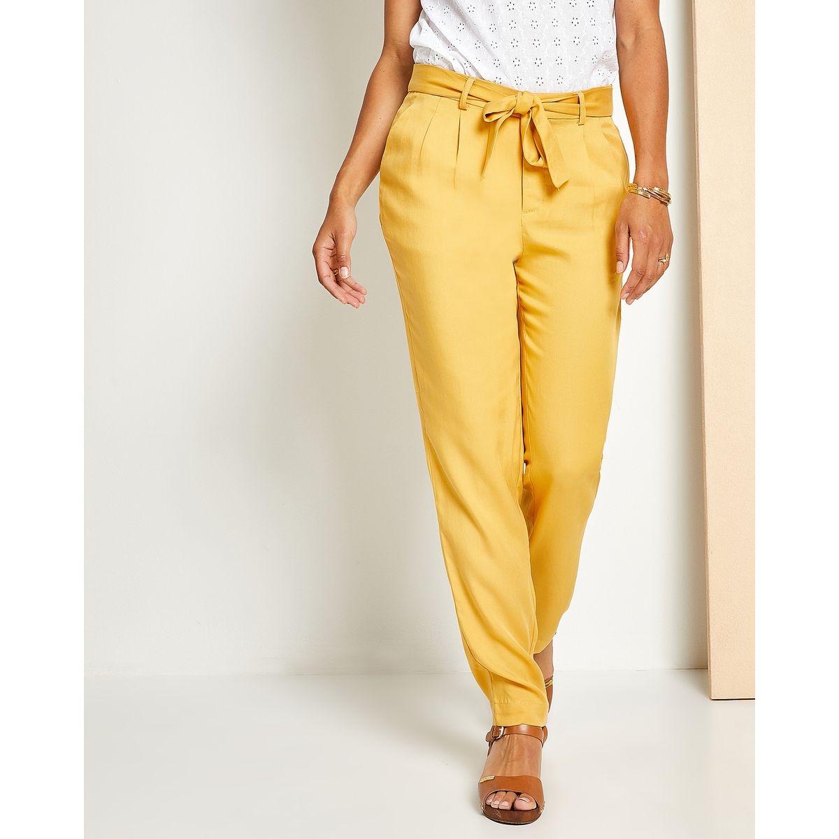 Pantalon  lyocell à ceinture