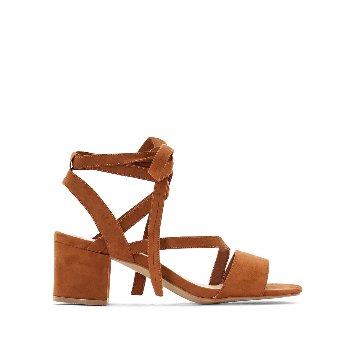 Sandálias para atar no tornozelo, pés largos, do 38 ao 45