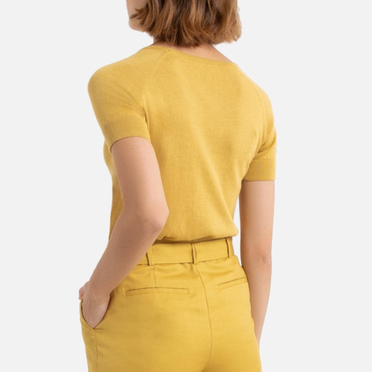 Jersey de manga corta, de punto fino