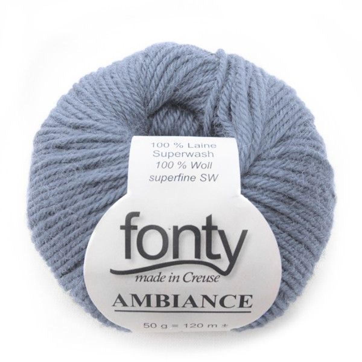 Laine à Tricoter Ambiance De Fonty, Col. Horizon 314