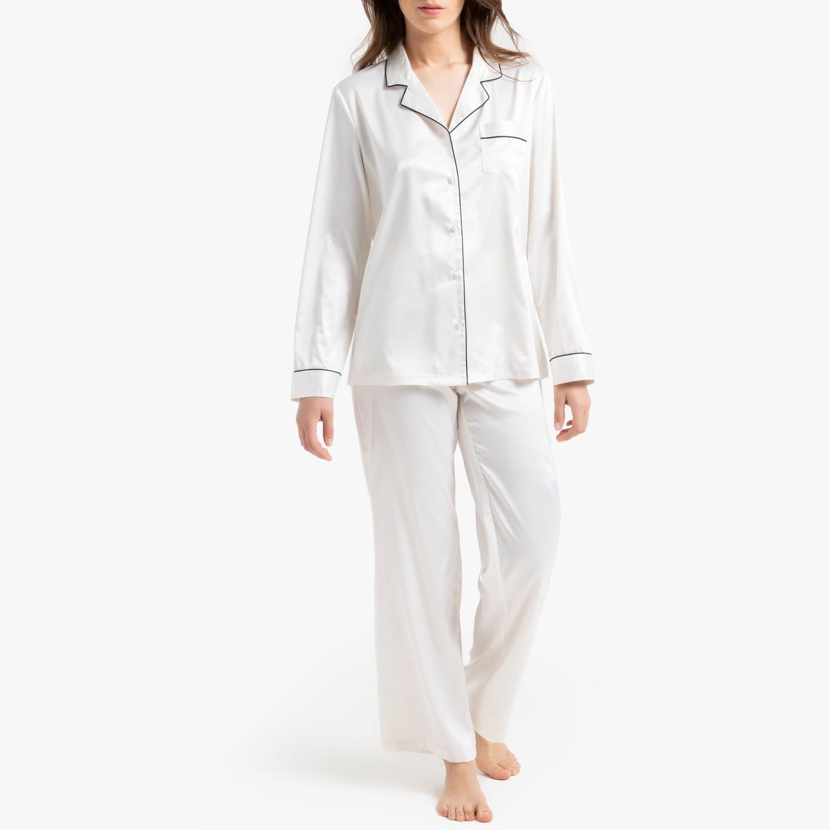Pijama de manga larga de satén