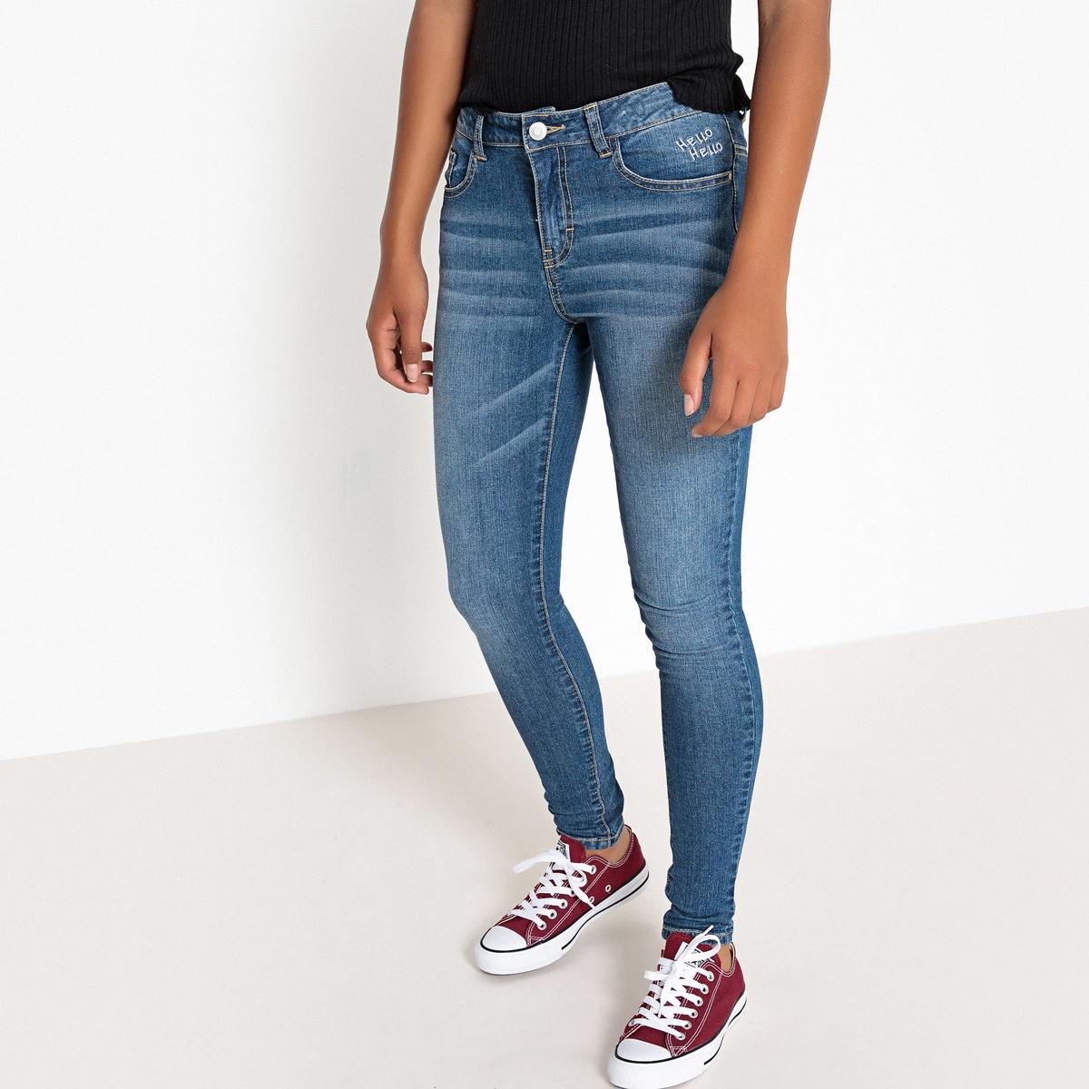 Джинсы скинни с вышивкой, 10-16 лет джинсы скинни с вышивкой 3 12 лет