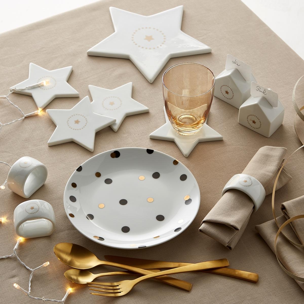 Подставка для блюда в форме звезды из фарфора, Kubler от La Redoute