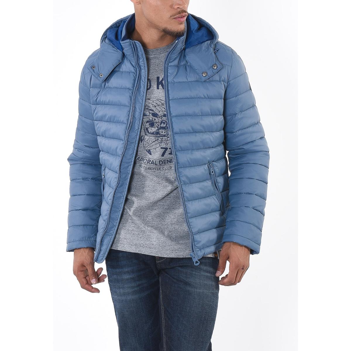 Куртка короткая зимняяДетали •  Длина  : укороченная  •  Воротник-стойка •  Застежка на молнию  •  С капюшоном Состав и уход •  100% полиамид  •  Следуйте советам по уходу, указанным на этикетке<br><br>Цвет: серый,черный<br>Размер: M.L