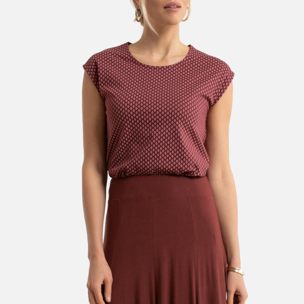T-shirt de gola redonda, mangas curtas, puro algodão