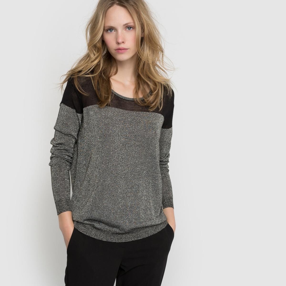 Пуловер из трикотажа с блестящим эффектом