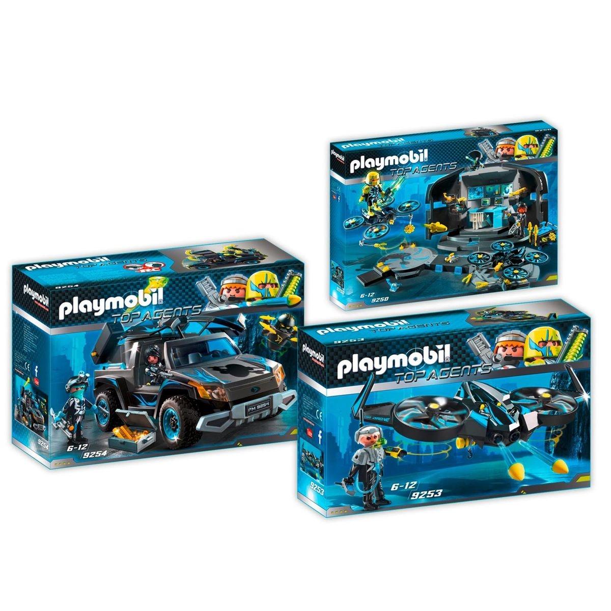 PLAYMOBIL 9250-53-54 Top Agents - 3 boîtes - 9250+9253+9254