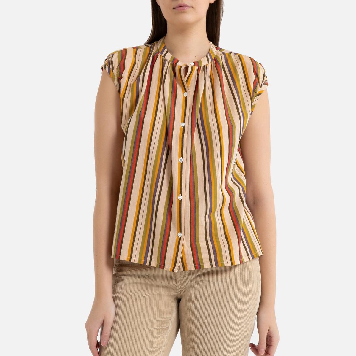 Блузка La Redoute В полоску с круглым вырезом короткие рукава VOISINE 36 (FR) - 42 (RUS) разноцветный