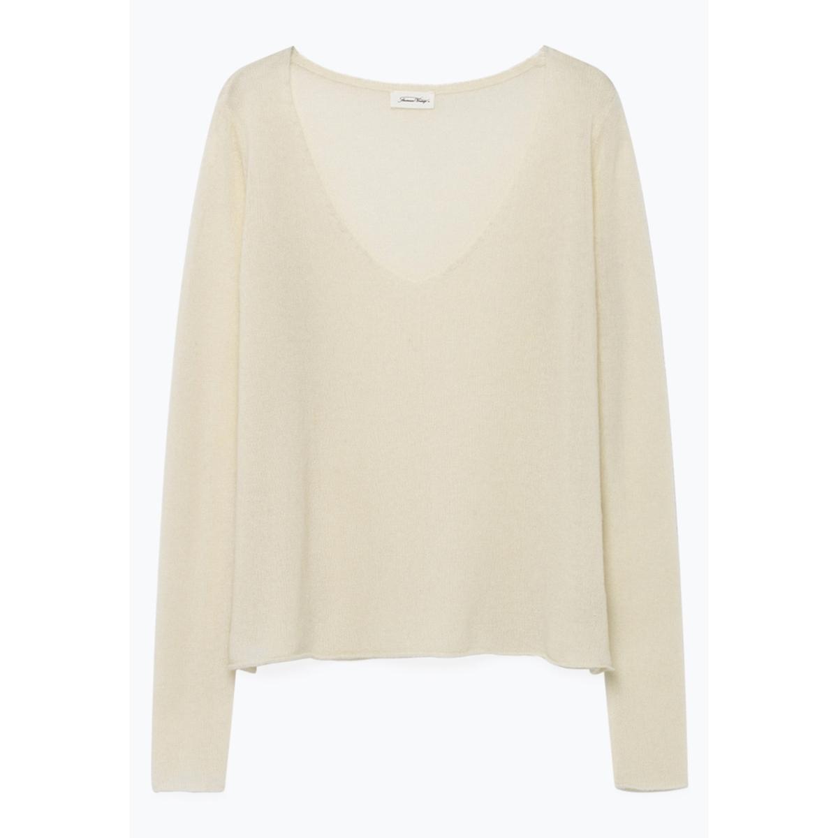 Пуловер La Redoute С v-образным вырезом из тонкого трикотажа NANIBEACH S бежевый пуловер la redoute с v образным вырезом из тонкого трикотажа s черный
