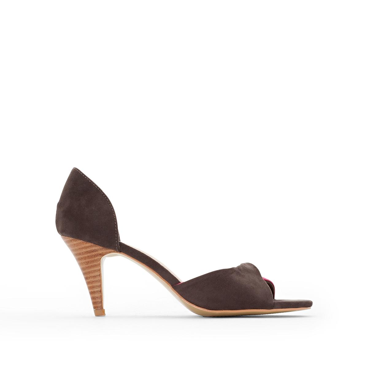 Туфли двухцветныеДвухцветные туфли от Anne Weyburn.Верх : Синтетическая замша.Подкладка : синтетический материалСтелька : Кожа на подкладке из пеноматериала.Подошва : Эластомер.Высота каблука : 8 см.<br><br>Цвет: серый/ фуксия<br>Размер: 37