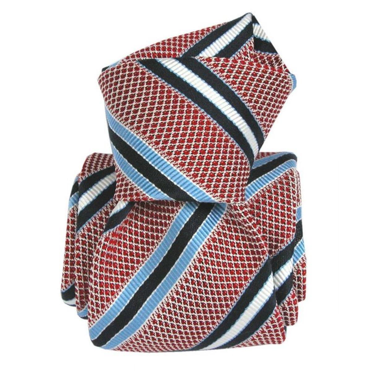 Cravate grenadine de soie club segni. Soie Club / rayé