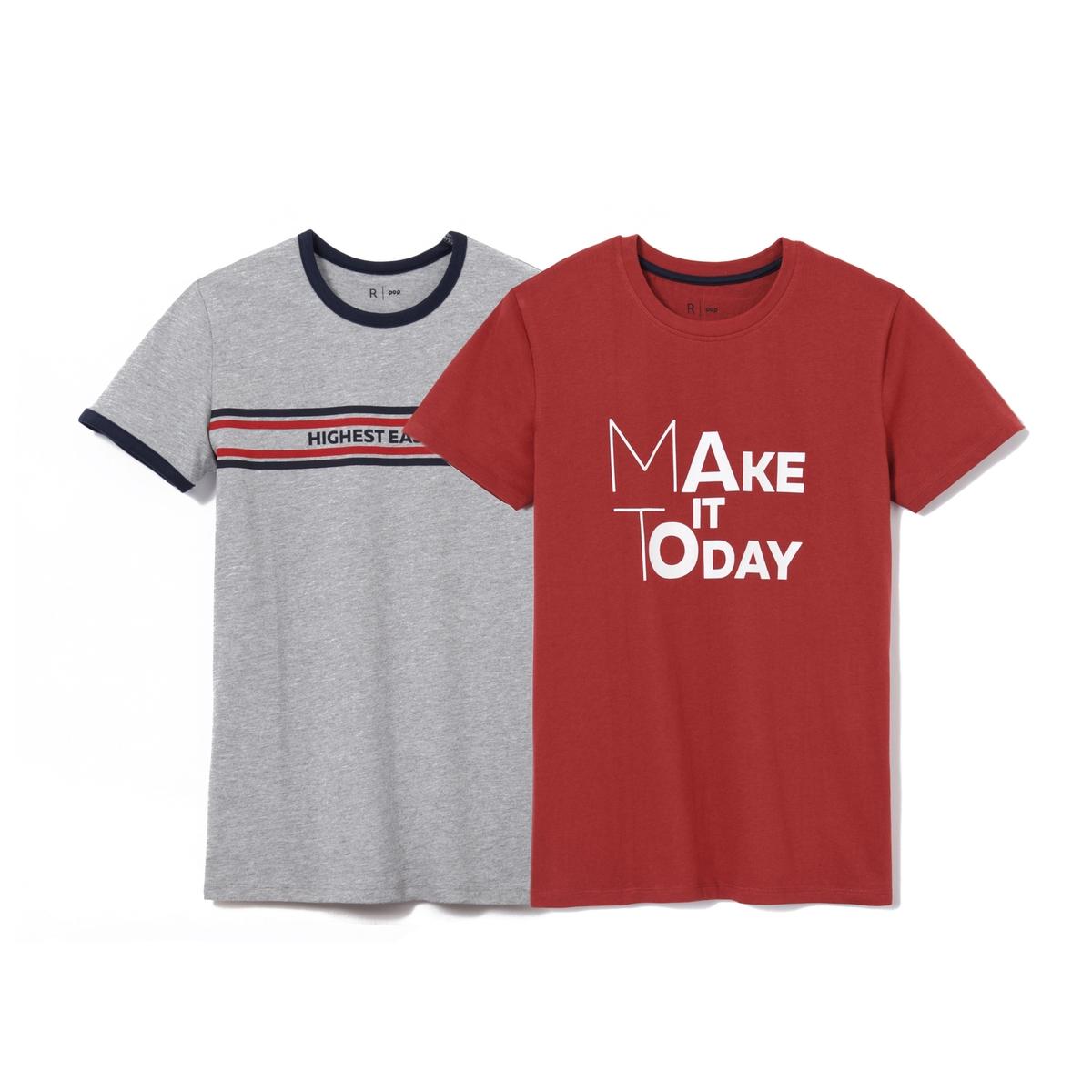 Комплект футболок с принтом 10-16 лет