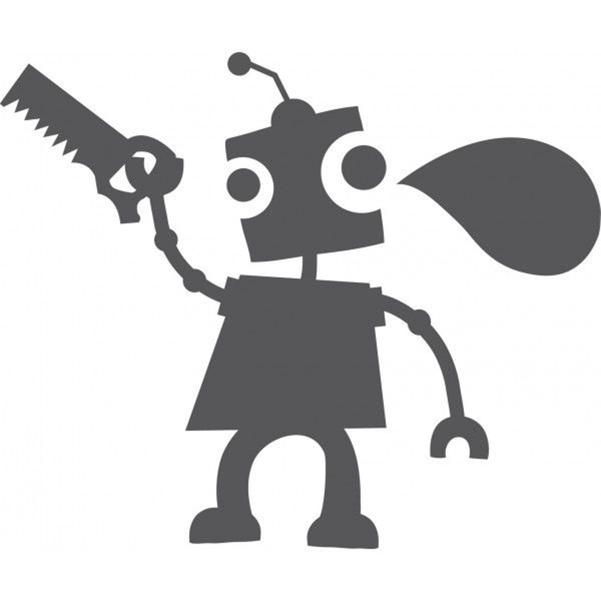 Sticker Ardoise : Robot Outils