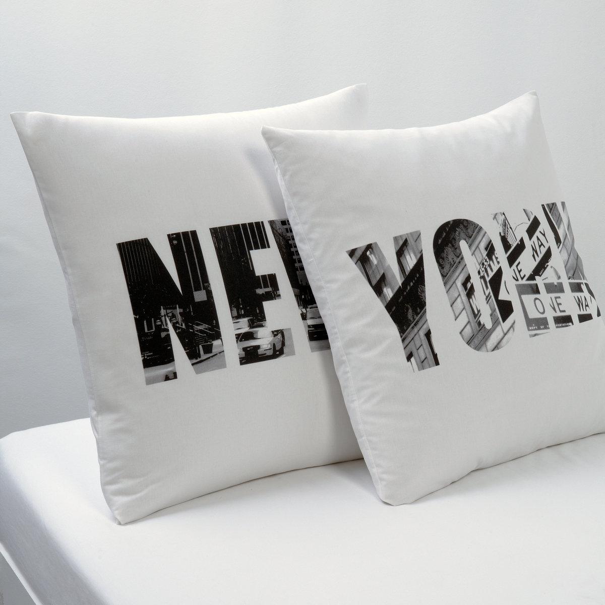 Наволочка с рисунком NEW-YORKКвадратная наволочка с изображением Нью-Йорка, города, который никогда не спит. Характеристики наволочки NEW-YORK : - С узорчатым клапаном.- 100% хлопка (57 нитей/cм?). Чем больше плотность переплетения нитей/см?, тем качественнее материал.- Стирка при 60°.Размеры: 63 x 63 см: квадратная наволочка.<br><br>Цвет: белый/ серый/ черный<br>Размер: 63 x 63  см