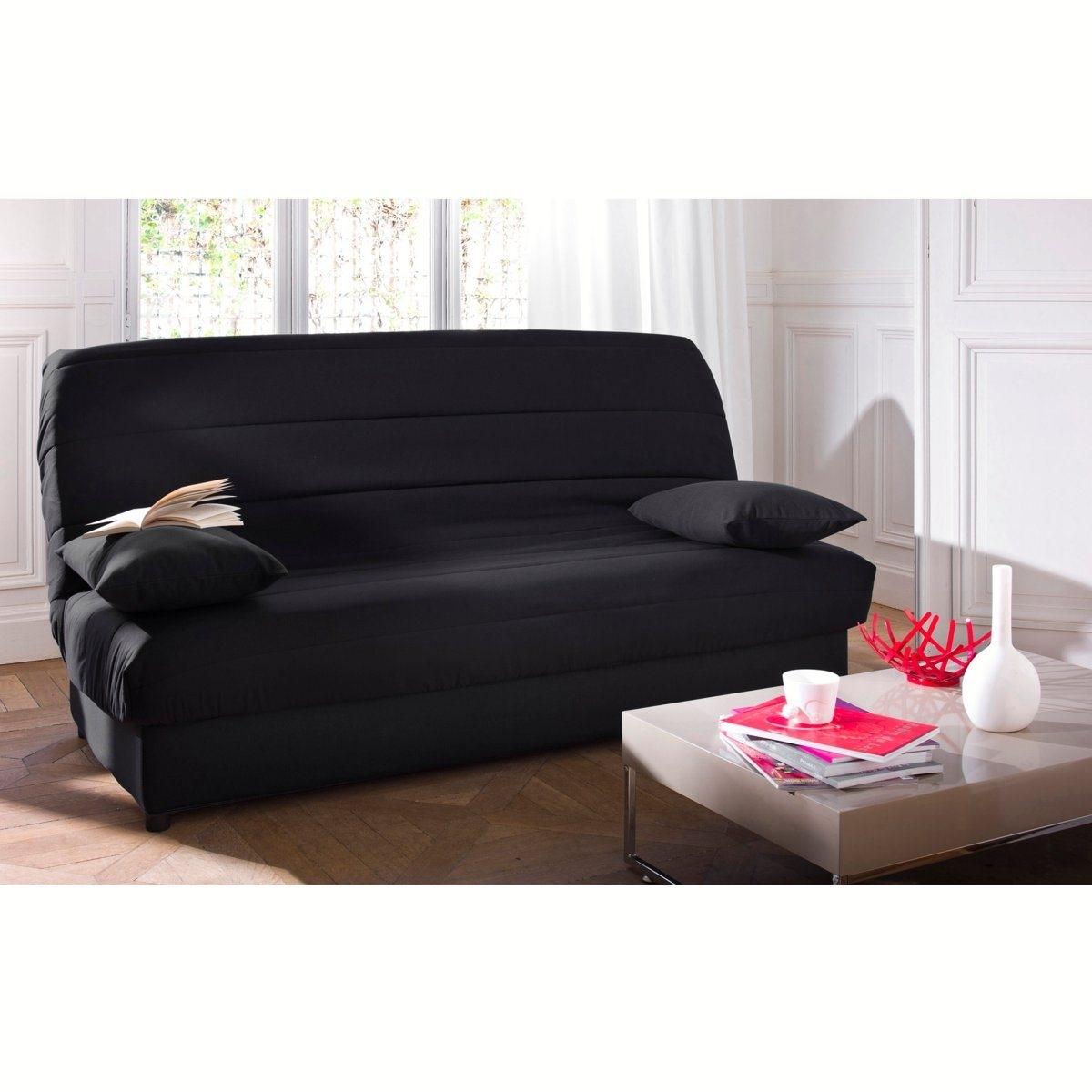 Чехол La Redoute Стеганый из поликоттона для раскладного дивана ASARET единый размер черный
