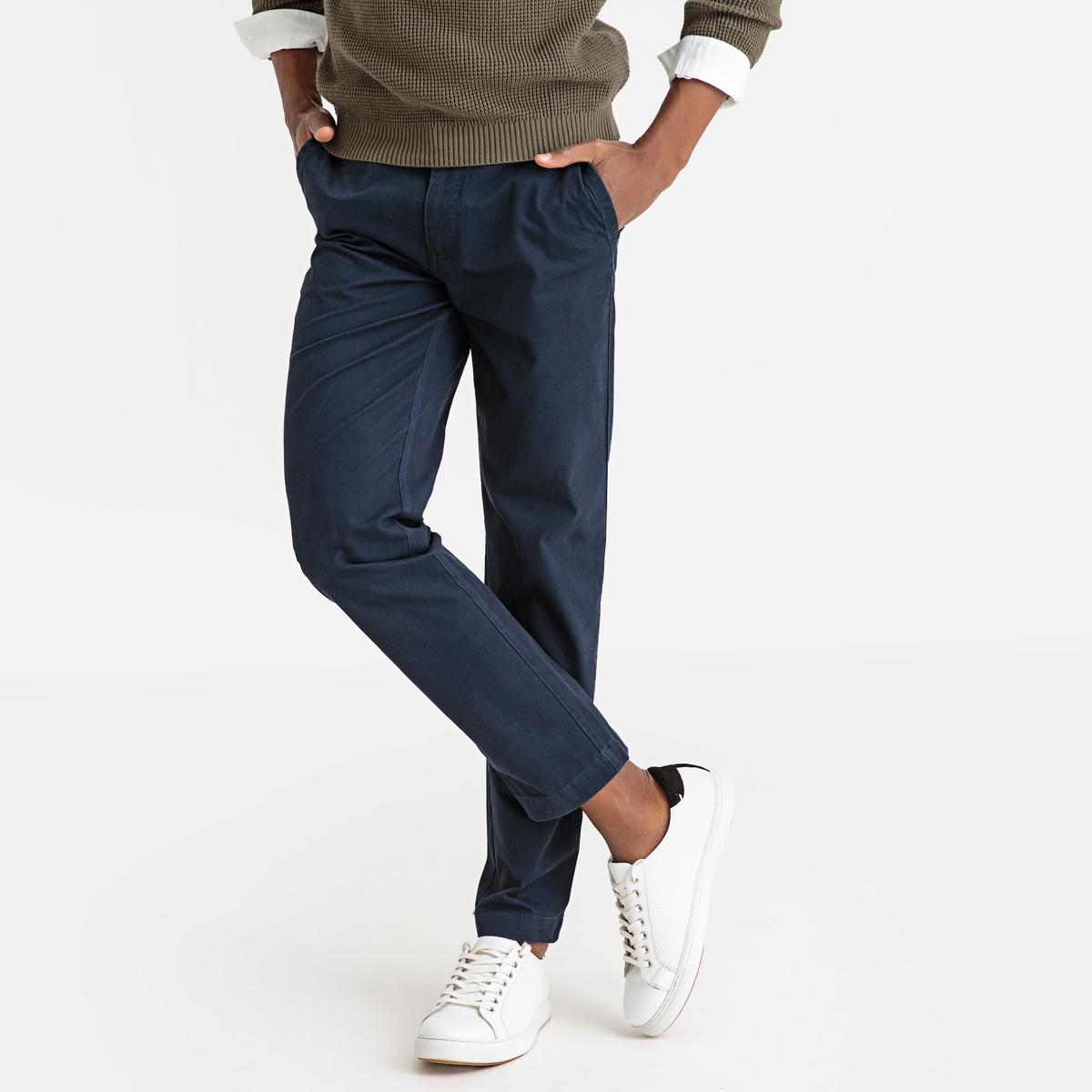Брюки-чино La Redoute Узкие 50 (FR) - 56 (RUS) синий брюки la redoute узкие дудочки с жаккардовым рисунком 50 fr 56 rus черный