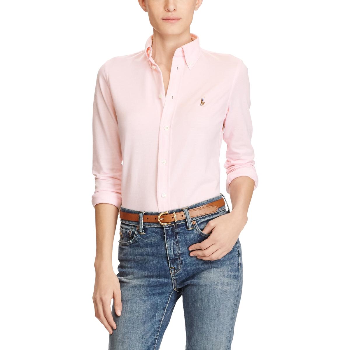 купить Рубашка La Redoute Классическая с длинными рукавами M розовый по цене 11499 рублей