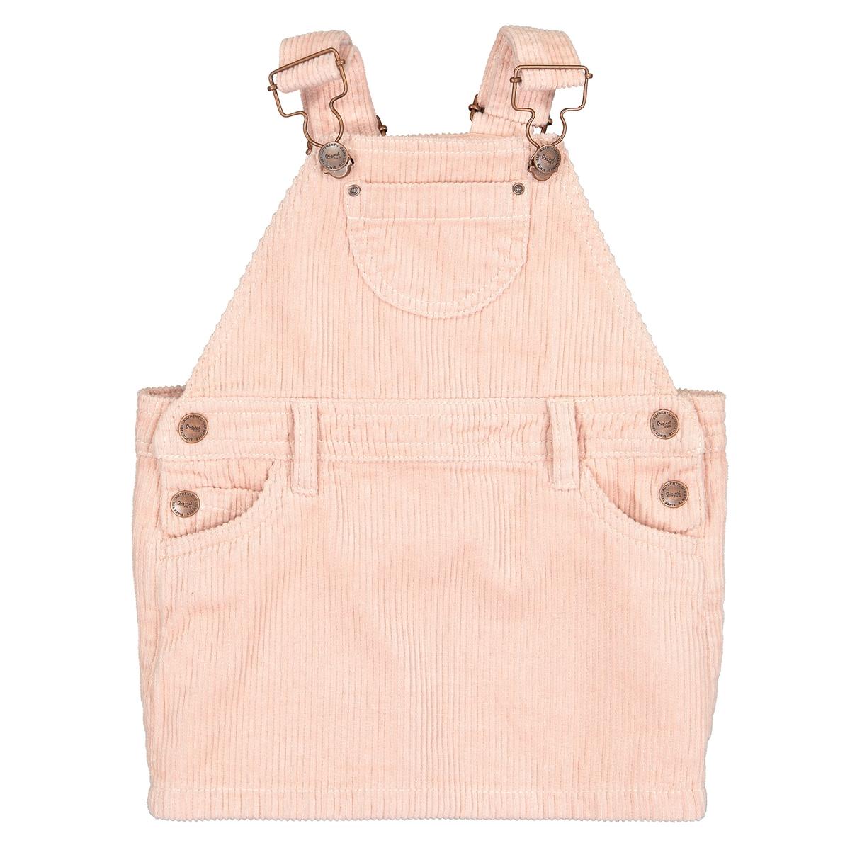 Платье La Redoute Вельветовое месяц- года 18 мес. - 81 см розовый шорты la redoute из велюра мес года 18 мес 81 см розовый