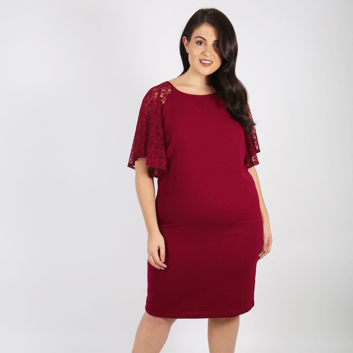 Платье-миди прямое с короткими рукавами от LOVEDROBE