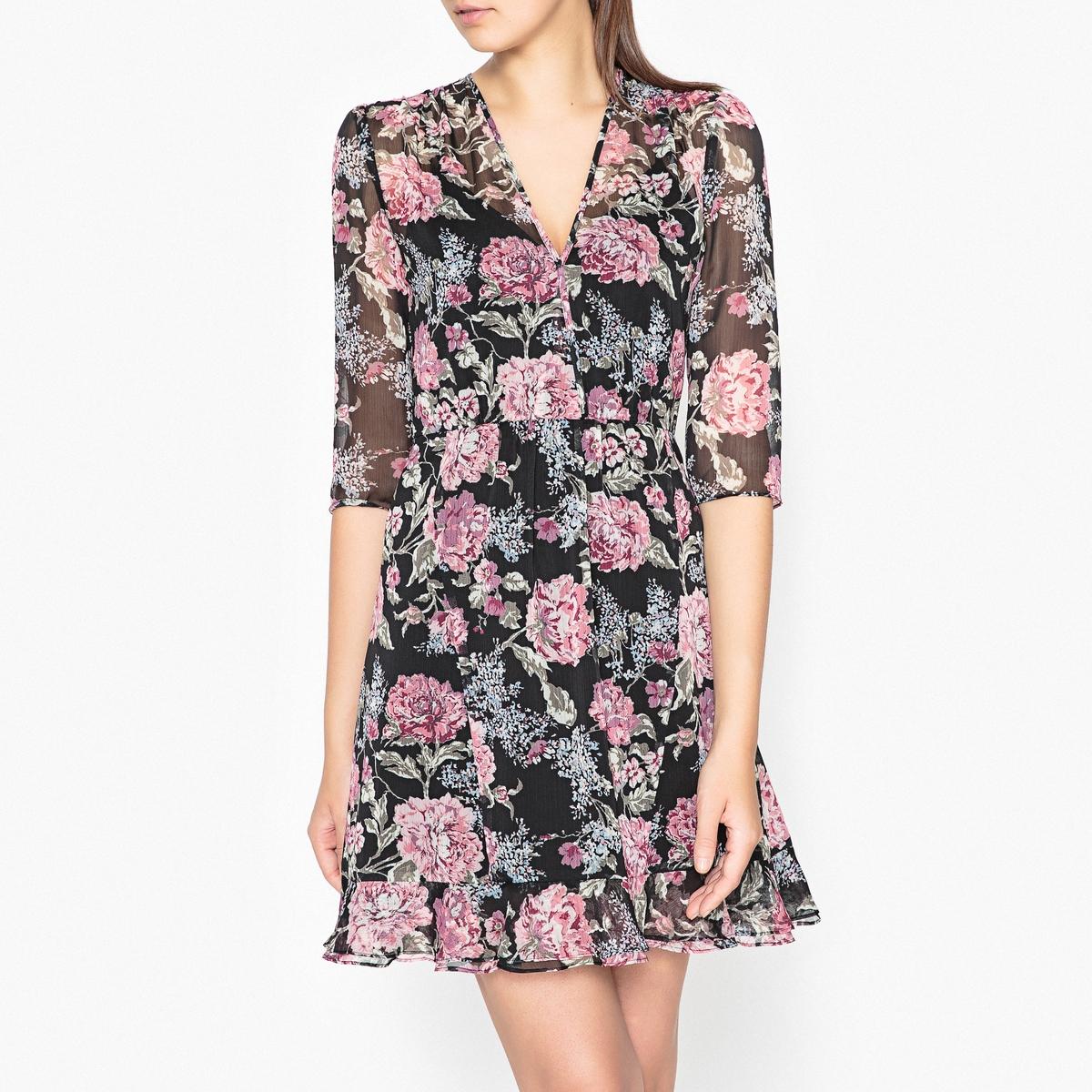 Платье из вуали с рисунком Эксклюзив Brand Boutique
