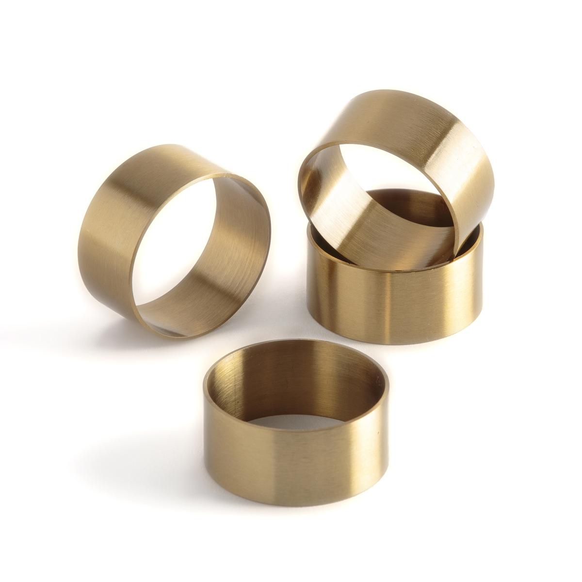 Комплект из 4 колец золотого LaRedoute Цвета для салфеток DAJAN единый размер золотистый комплект из 2 вешалок slofia laredoute из березы единый размер черный