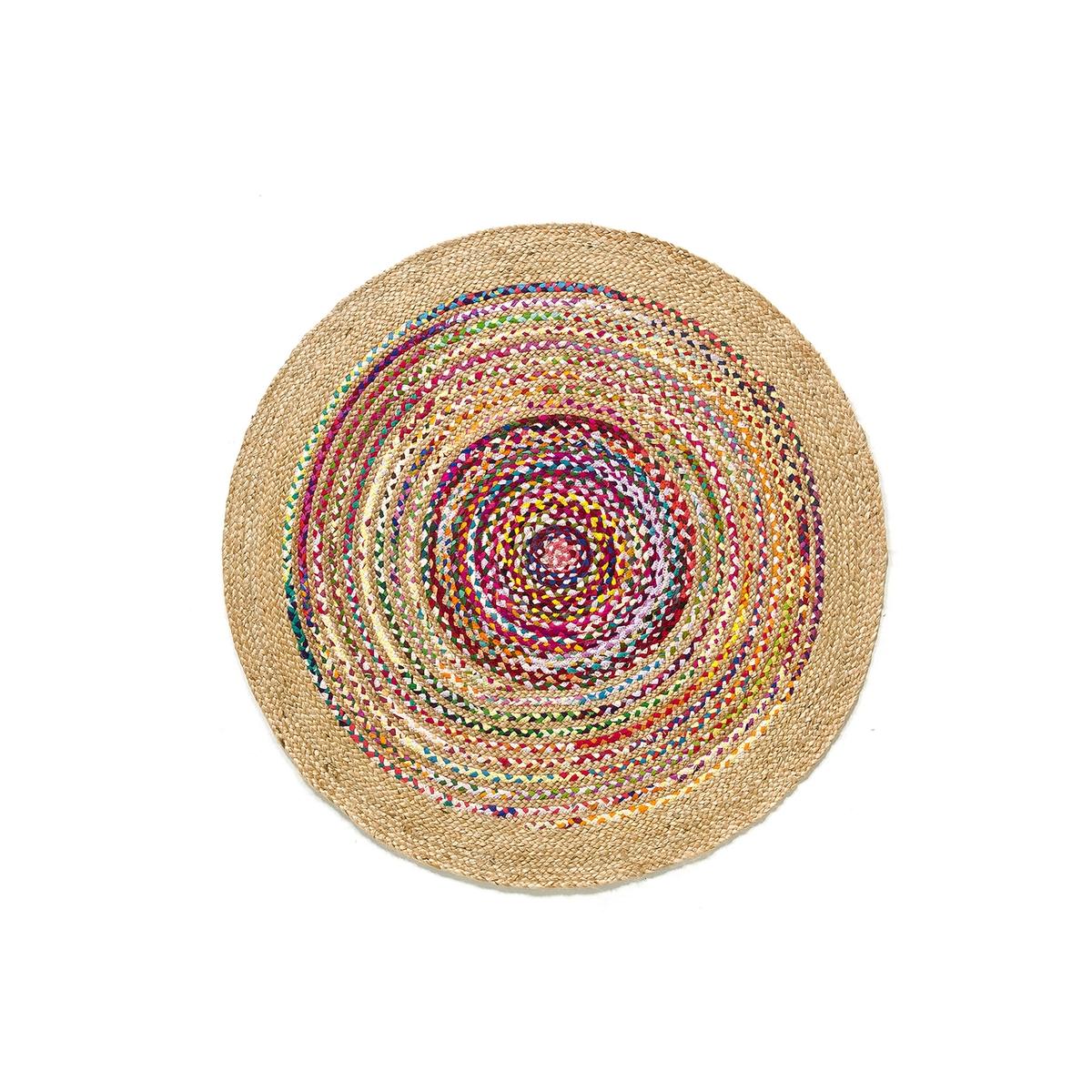 Фото - Ковер LaRedoute Из джута и хлопка 120 см Jaco единый размер разноцветный ковер laredoute из джута и хлопка пастельных тонов bazyli 120 x 180 см разноцветный