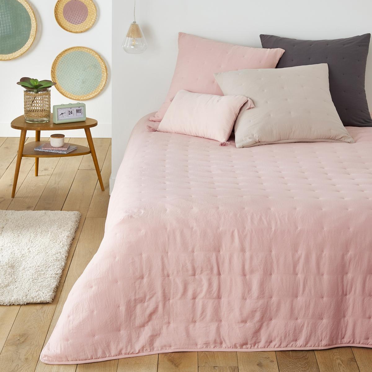 Покрывало LaRedoute Из стираной микрофибры Loja 150 x см розовый