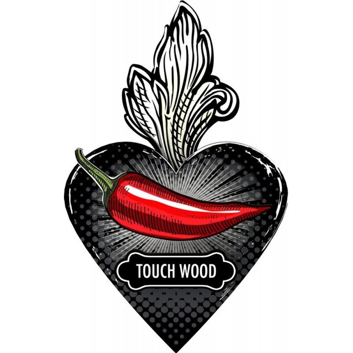 Cœur ex-voto décoratif Unexpected Things Touch Wood