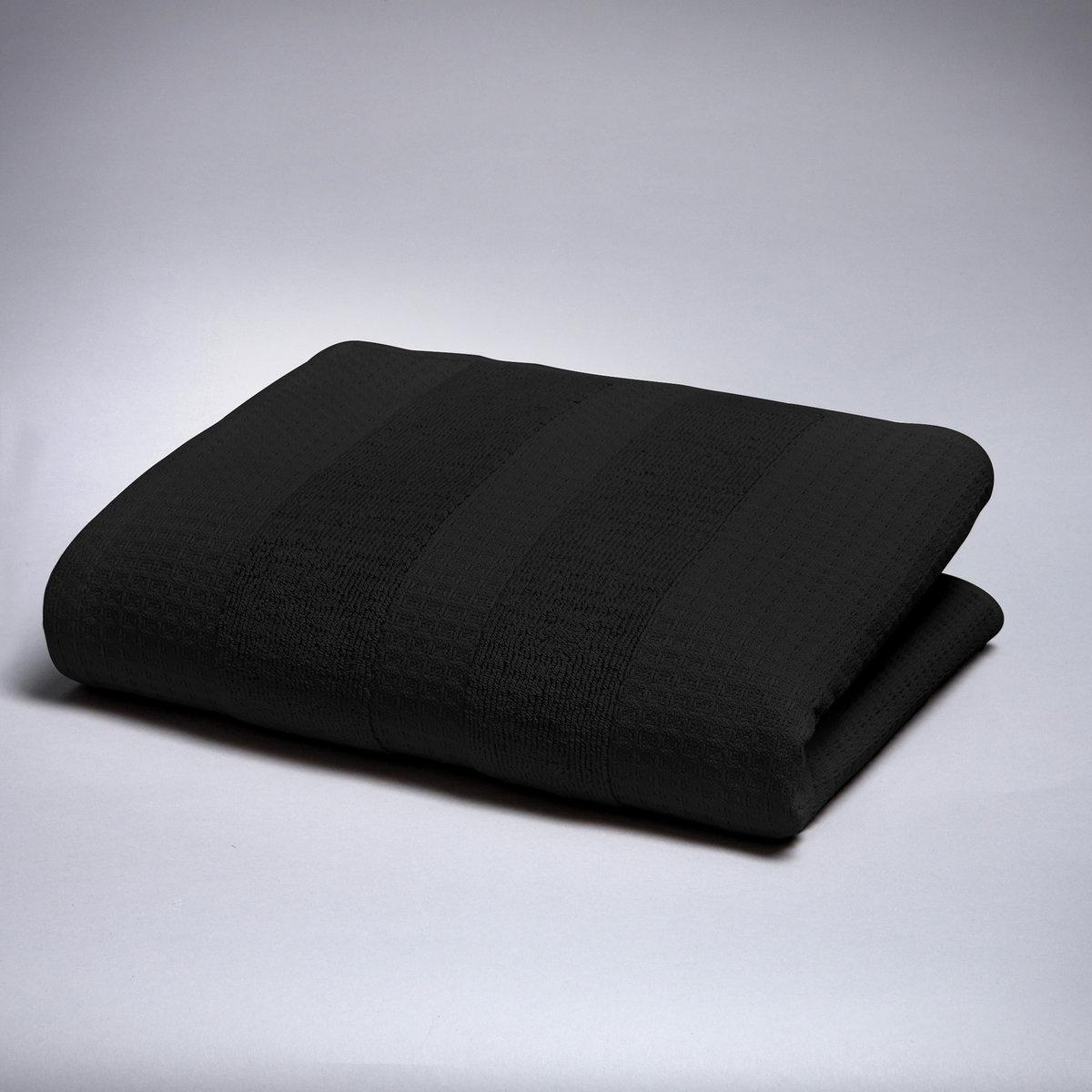 Полотенце, 500 г/м?Мягкая роскошь… Одна сторона с вафельной текстурой и махровой каймой, другая сторона из махровой ткани с вафельной каймой. 100% хлопка, 500 г/м?. Размер: 50 х 100 см. Стирка при 60°.<br><br>Цвет: черный<br>Размер: 50 x 100  см