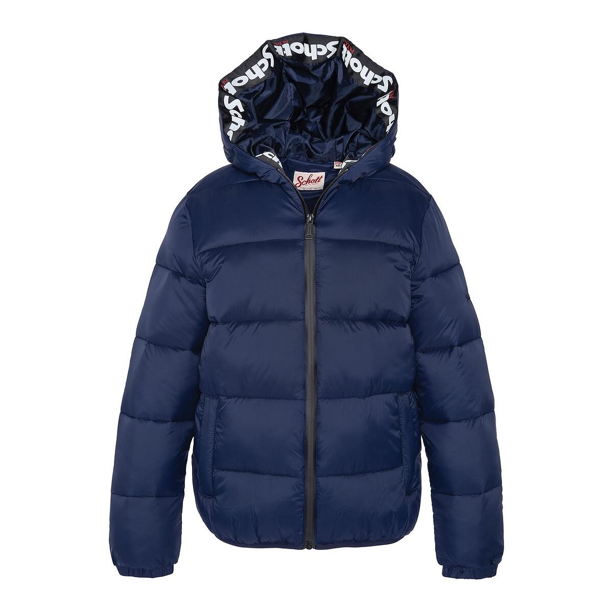 Куртка La Redoute Стеганая с капюшоном 10-16 лет 10 лет - 138 см синий куртка la redoute тонкая непромокаемая maxime xxl синий