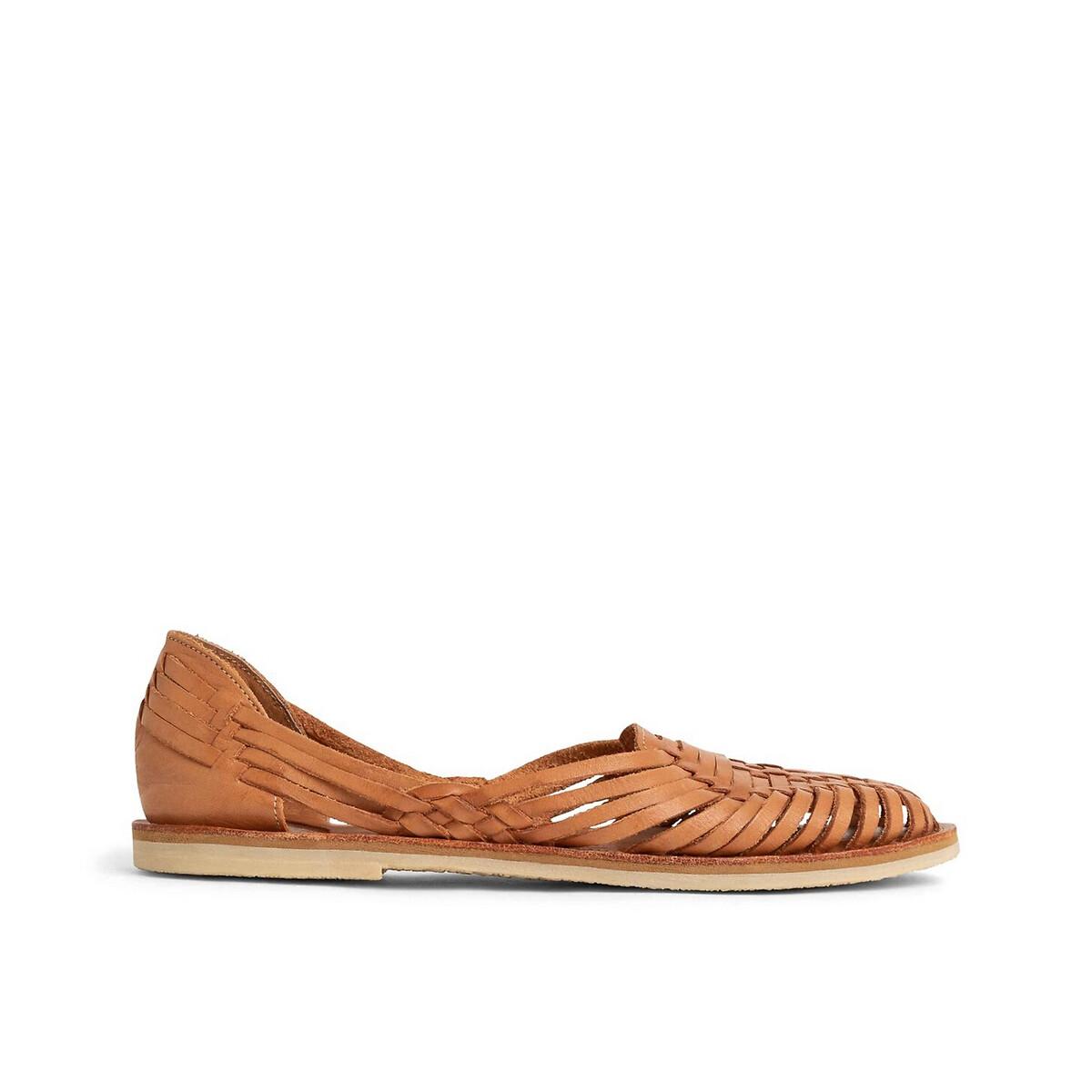 Sandales plates tressées en cuir PACHUCCA