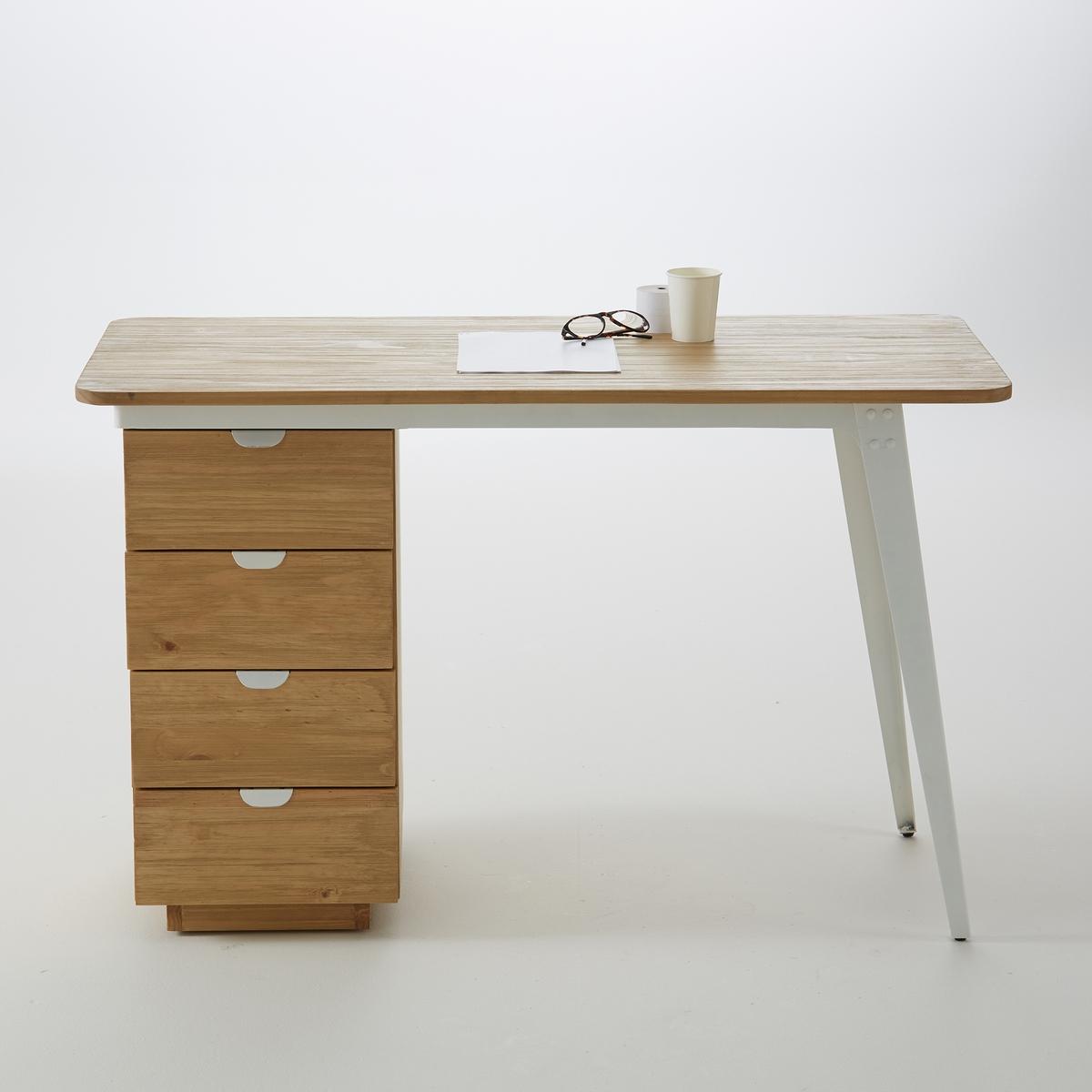 Стол письменный с 4 ящиками Hiba