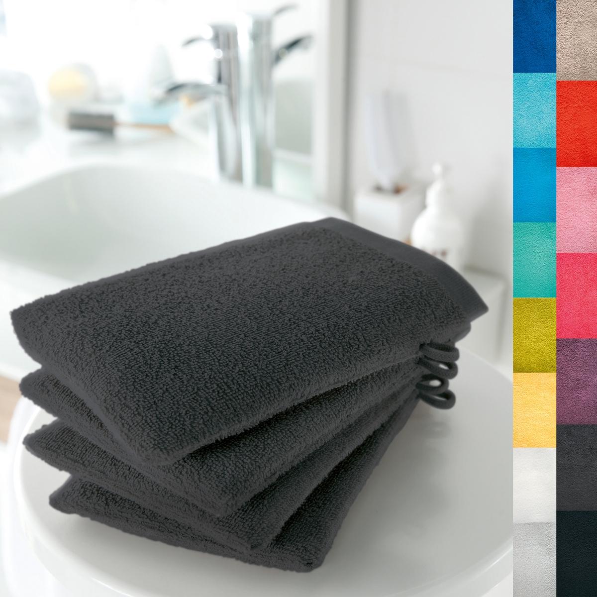 4 банные рукавички, 420 г/м² от La Redoute