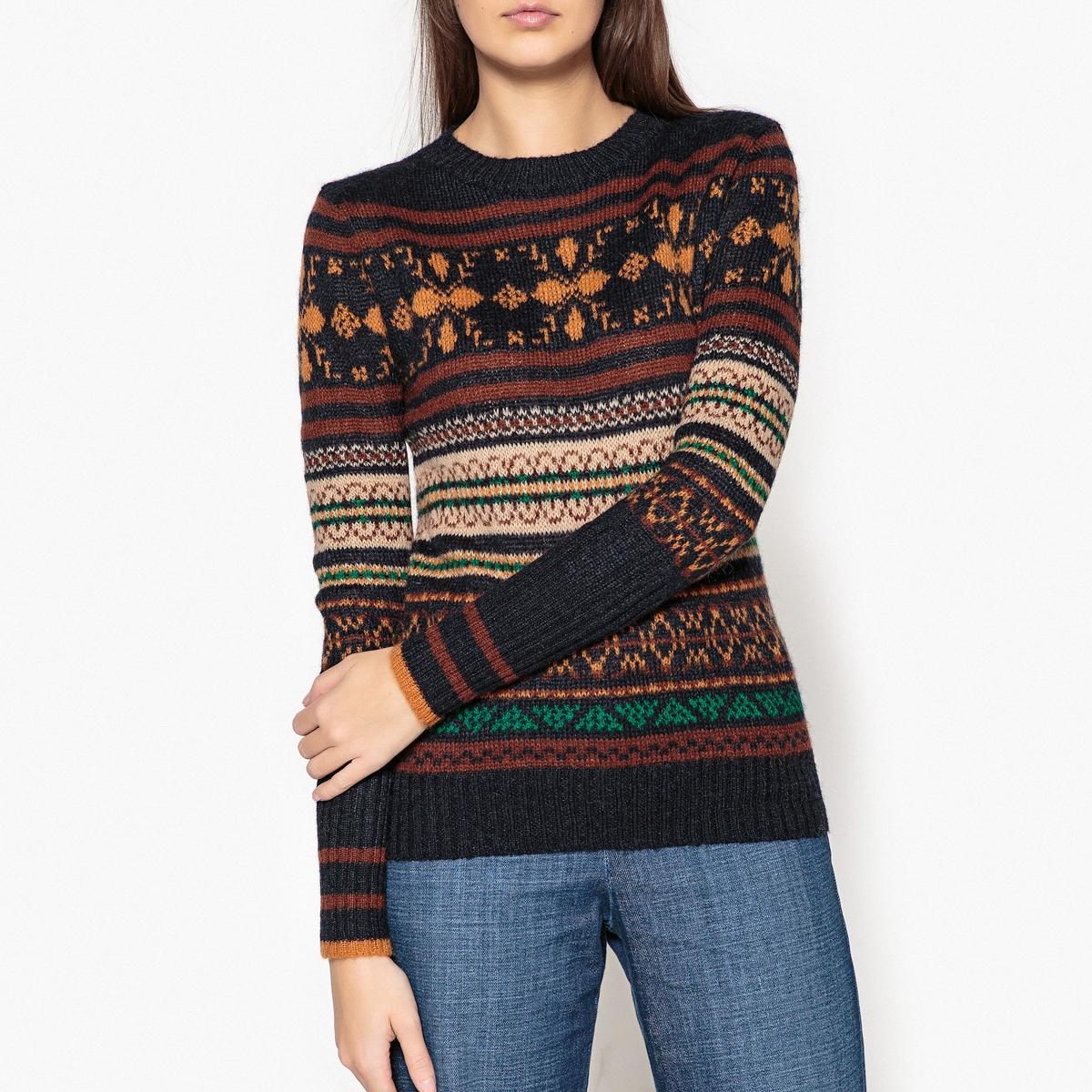 Пуловер с круглым вырезом из трикотажа MYRHA