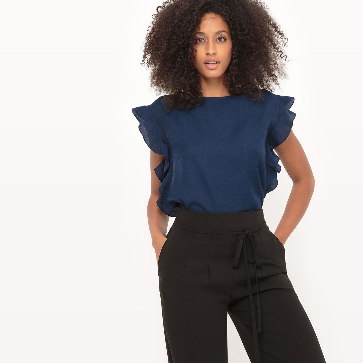 Блузка с воланами и короткими рукавами