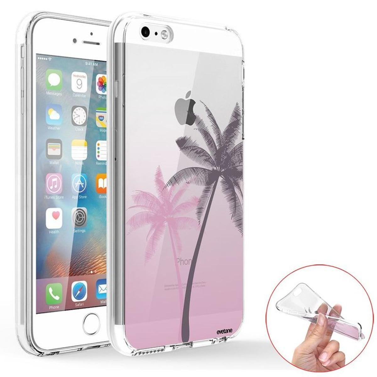 Coque iPhone SE / 5S / 5 360 intégrale transparente, Palmiers et Dégradé, Evetane®