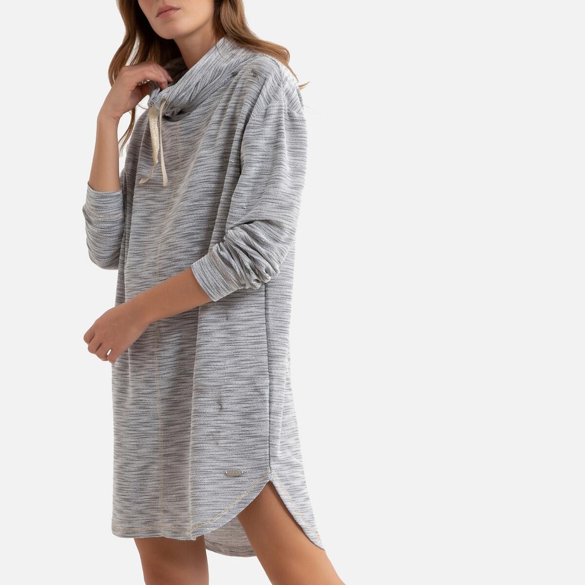 Рубашка LaRedoute — Ночная с воротником-стойкой S серый