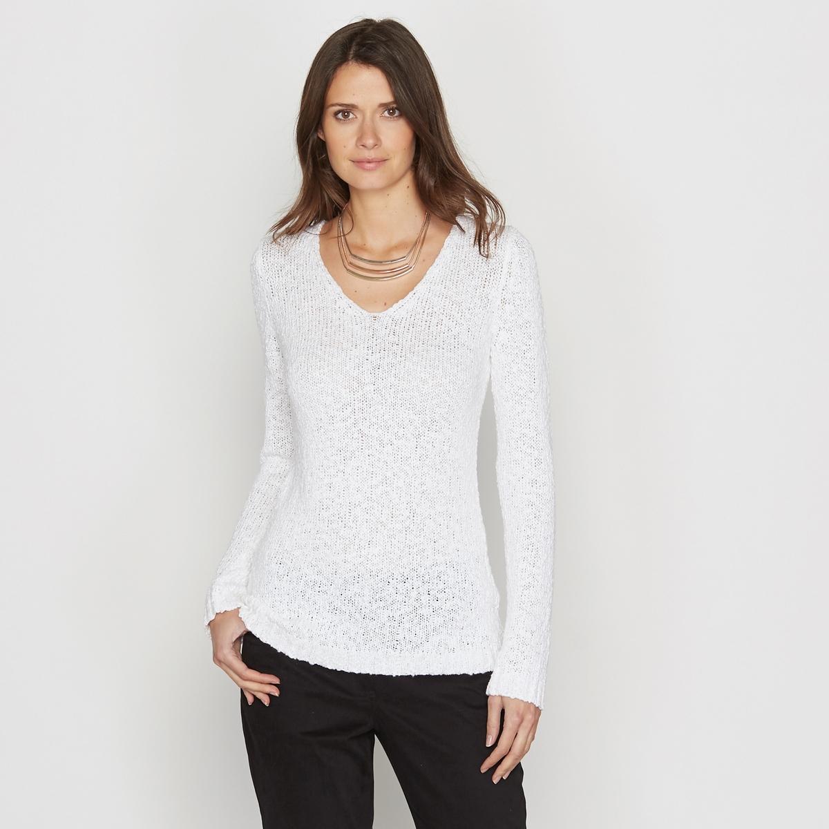 Пуловер из тонкого трикотажа с V-образным вырезом от ANNE WEYBURN