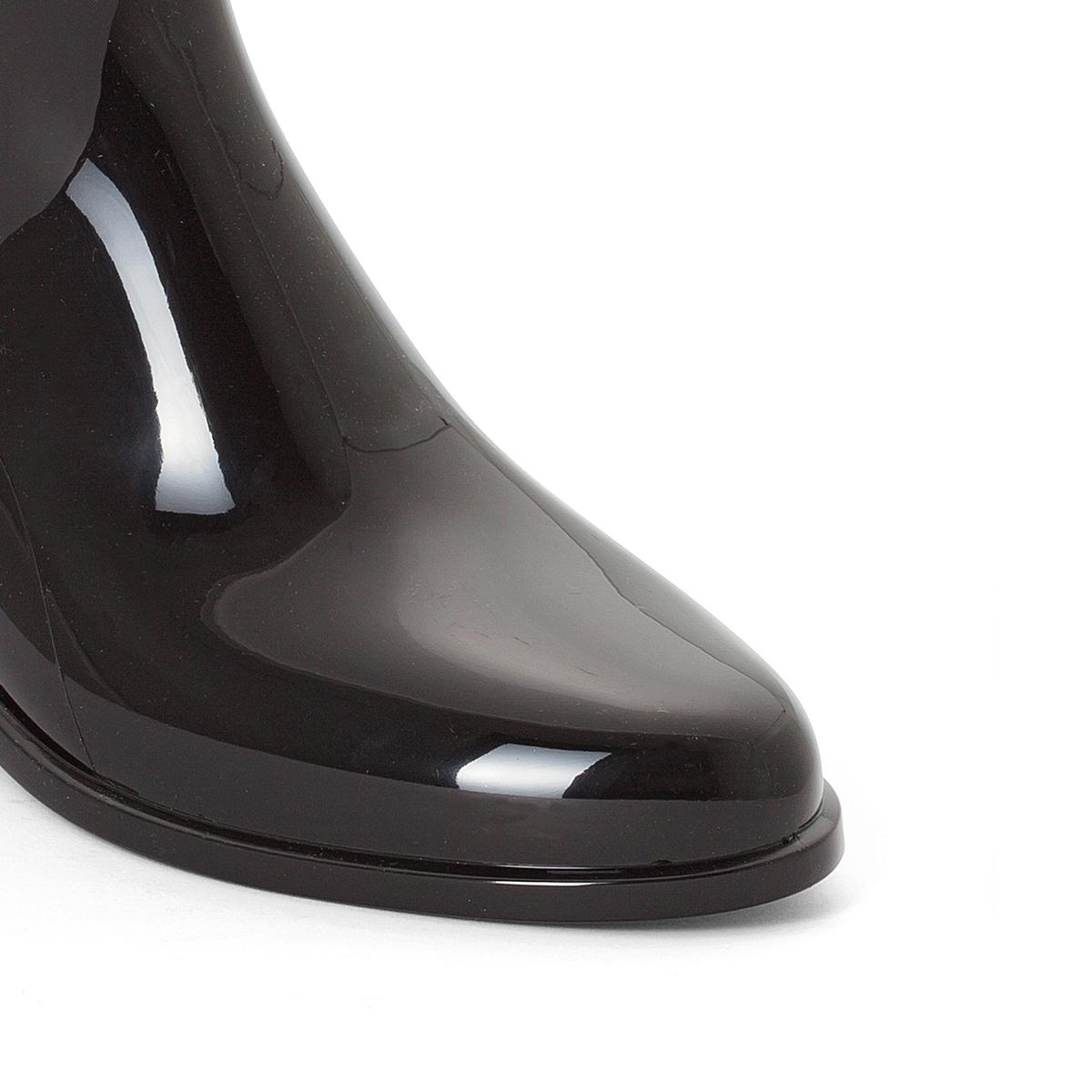 Сапоги резиновые HarperВерх : каучук   Подкладка : полиамид   Стелька : синтетика   Подошва : каучук   Высота каблука : 2 см   Форма каблука : плоский каблук   Мысок : закругленный мысок   Застежка : без застежки<br><br>Цвет: черный