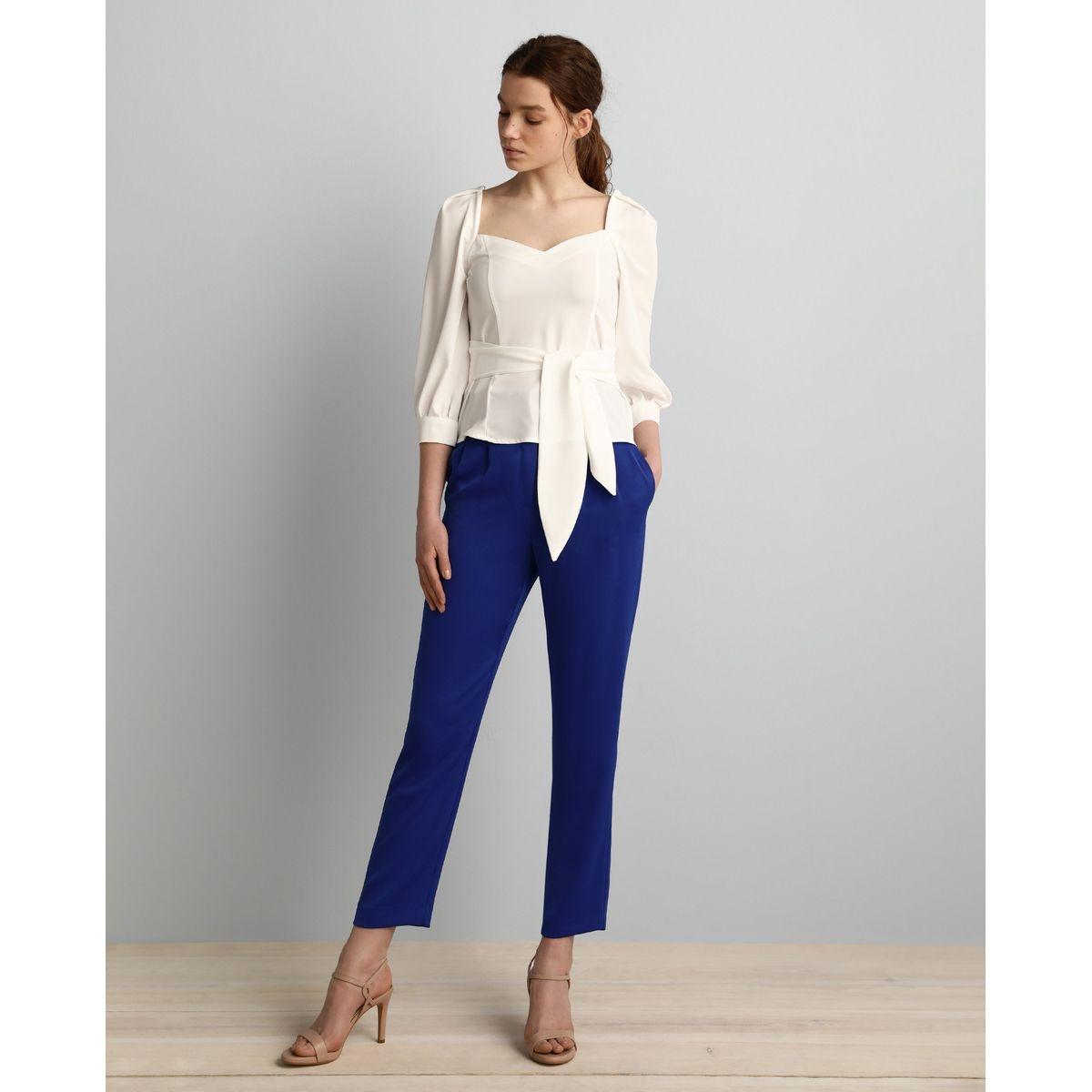 Pantalon fluide avec noeud