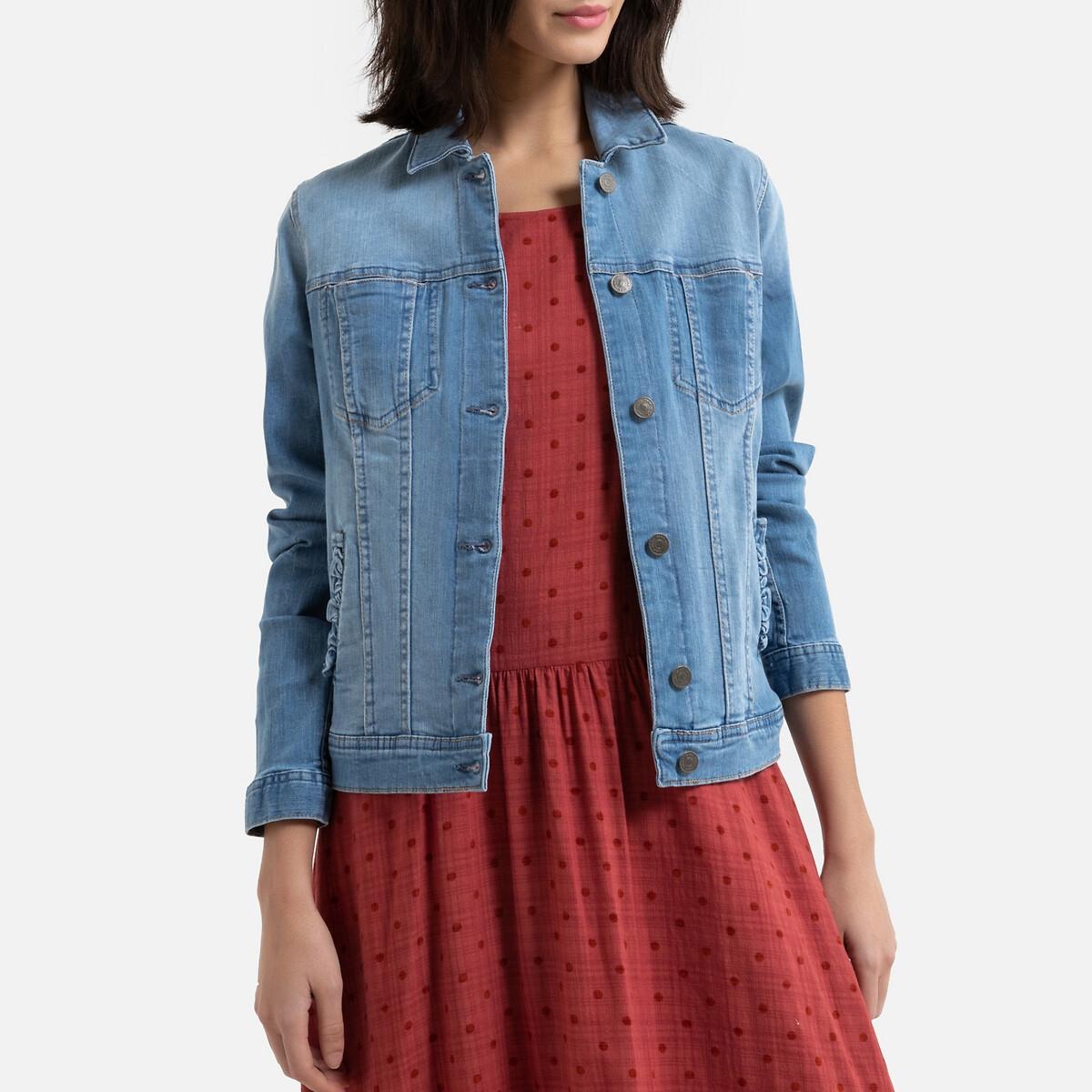 Куртка La Redoute Джинсовая 36 (FR) - 42 (RUS) синий платье la redoute радужное estelle 36 fr 42 rus черный