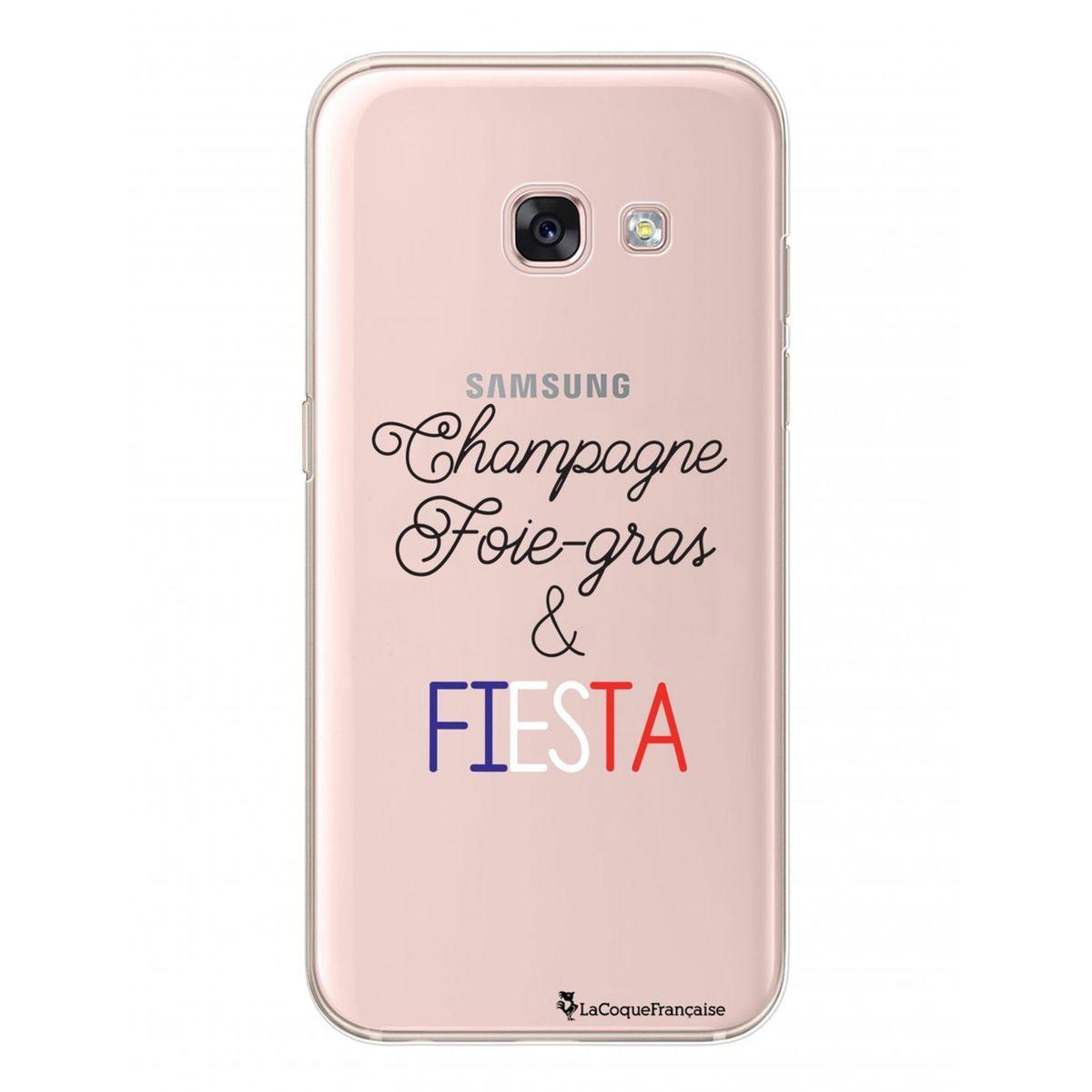 Coque Samsung A3 2017 rigide transparente, Champagne Foie Gras et Fiesta bleu Blanc, La Coque Francaise®