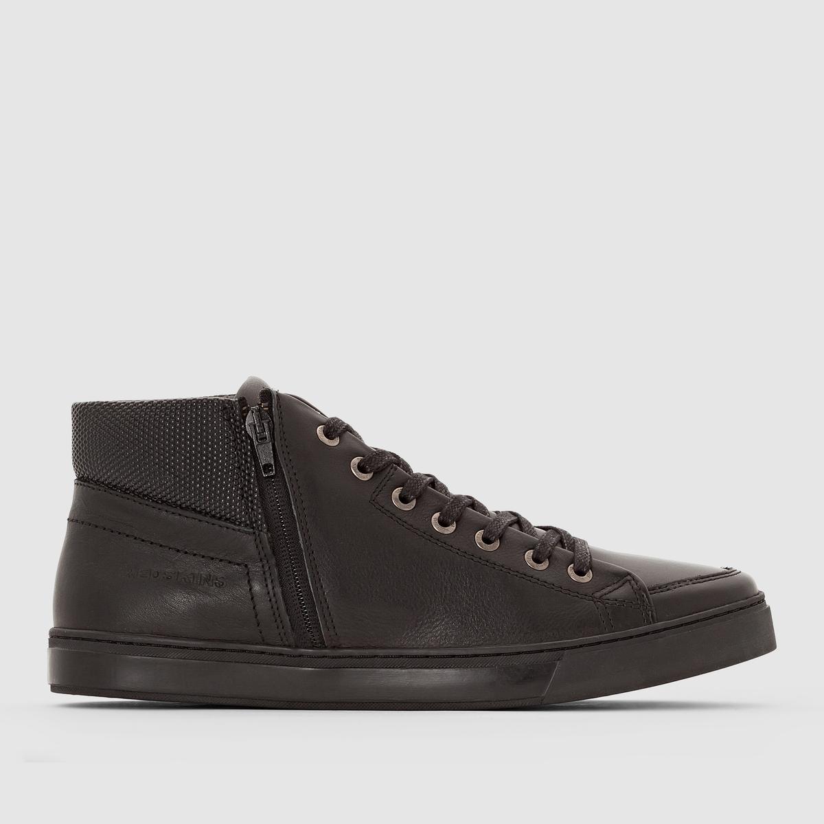 Кеды высокие SIDANERПодкладка : Кожа и текстиль    Стелька : Кожа   Подошва : каучук.   Форма каблука : Плоский каблук   Носок : Закругленный.    Застежка : шнуровка.<br><br>Цвет: черный