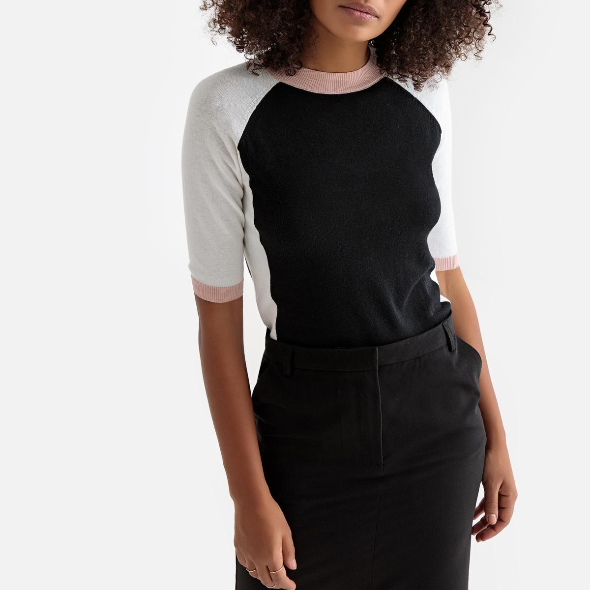 Пуловер  - синий,черный цвет