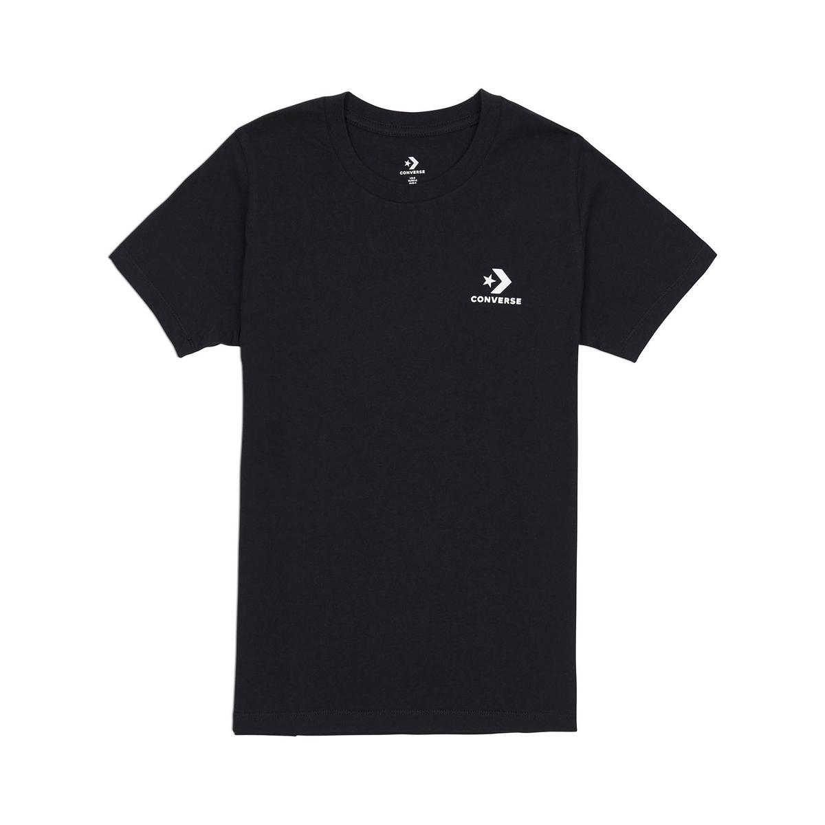 Imagen principal de producto de Camiseta con cuello redondo y estampado delante, 100% algodón - Converse