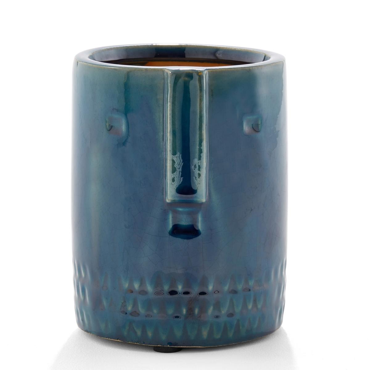 Кашпо La Redoute Из керамики см Sakina единый размер синий кашпо la redoute в см ologe единый размер каштановый