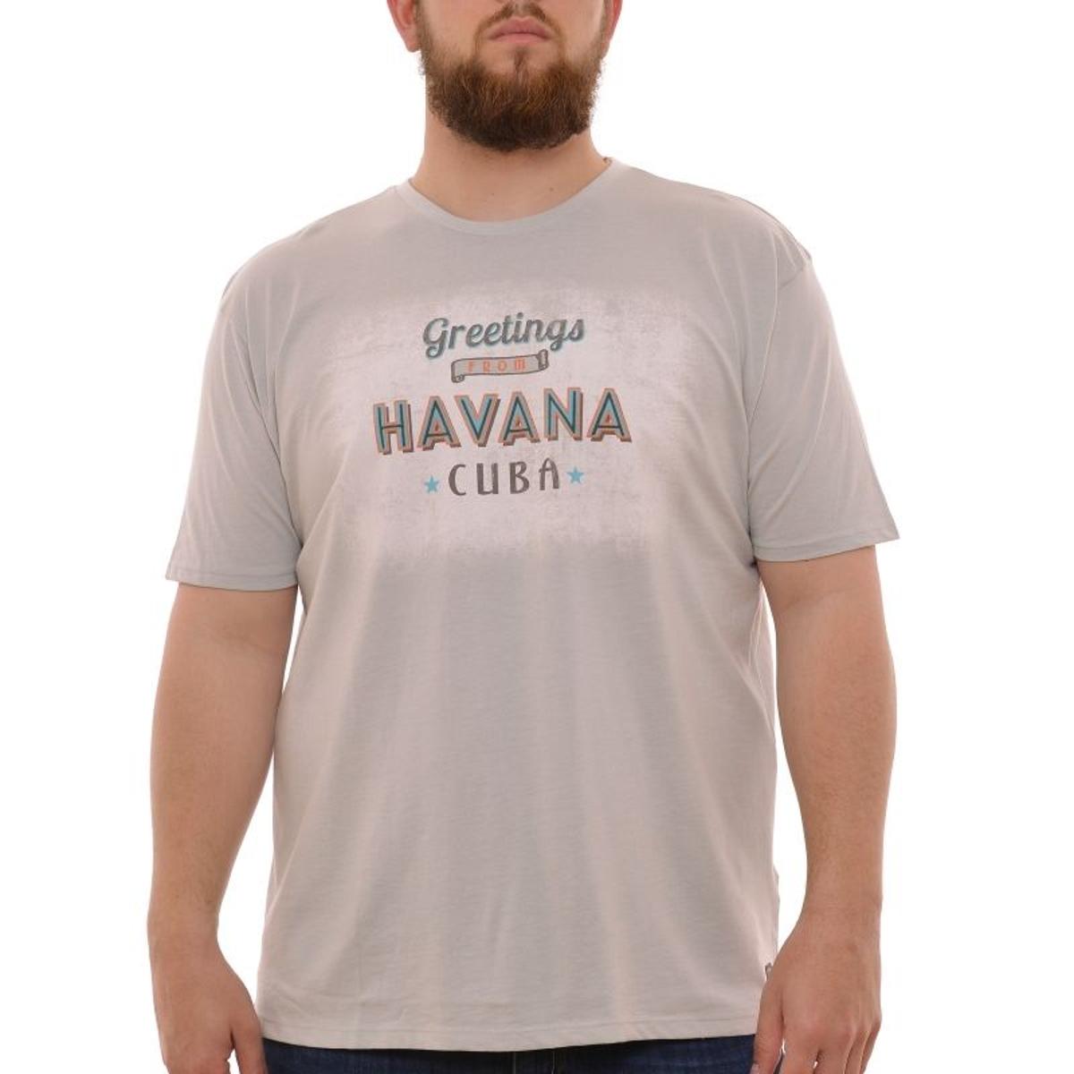 T-shirt manches courtes greige havana