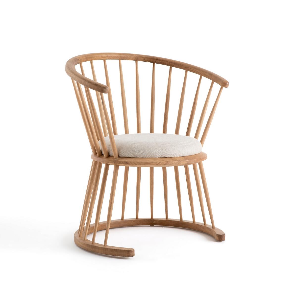 Кресло LaRedoute Raggi низкое натуральный дизайн от Э Галлина единый размер бежевый