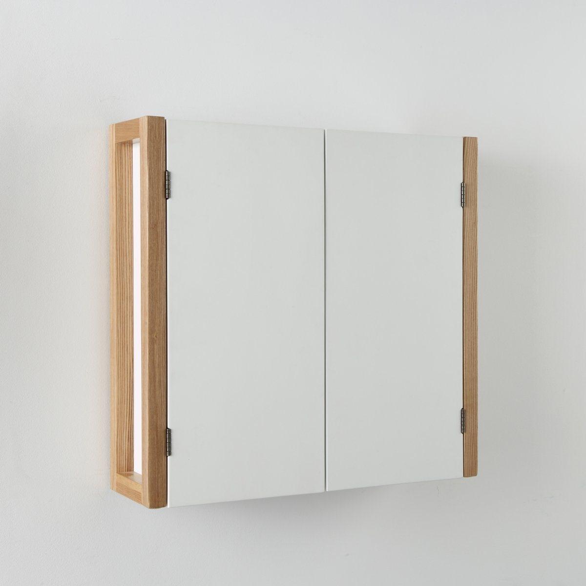 Высокий шкаф для ванной комнаты CompoВысокий шкаф Compo с 2 дверцами. Скандинавский стиль: сочетание лака и светлого дерева. Благодаря размерам подойдет для любого интерьера!Описание шкафа Compo:2 дверцы с магнитными замками.1 полка.Для шкафа Compo предусматривается самостоятельная сборка.Характеристики шкафа Compo:Стойки из дуба.Шкаф и дверцы из МДФ с лакированным матовым покрытием нитроцеллюлозным лаком.Найдите другие шкафы и мебель для ванной комнаты и гостиной  из коллекции Compo на сайте laredoute.ru.Размеры шкафа Compo:Общие:Длина: 65 см.Высота: 60 см.Глубина: 18 см.Полезные: Ш.55,4 x В.55,2 x Г.15,7 см + 1 стационарная полка.Размеры и вес с упаковкой:1 упаковка.Ш.68 x В.44,5 x Г.16 см.15,5 кг.<br><br>Цвет: белый