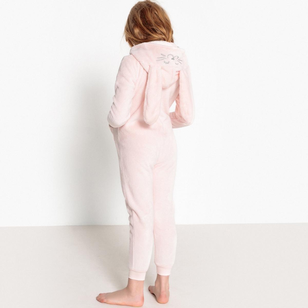 Пижама La Redoute Цельная с рисунком кролик 12 лет -150 см розовый пижама la redoute из предметов с рисунком 12 лет 150 см розовый